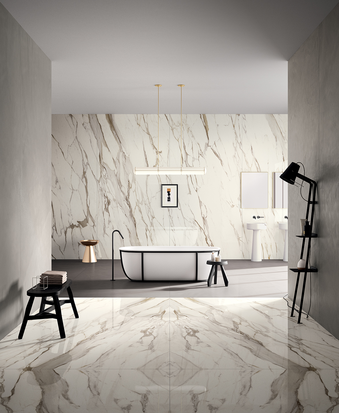 Calacatta Gold Slab Stoneware Suppliers Extra Large Porcelain Tiles